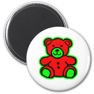 Teddy Bear Green Red The MUSEUM Zazzle Gifts Magnets
