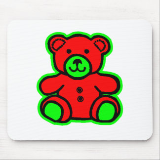 Teddy Bear Green Red The MUSEUM Zazzle Gifts Mouse Pads