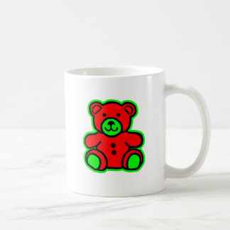 Teddy Bear Green Red The MUSEUM Zazzle Gifts Mug