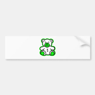 Teddy Bear Green White The MUSEUM Zazzle Gifts Bumper Stickers