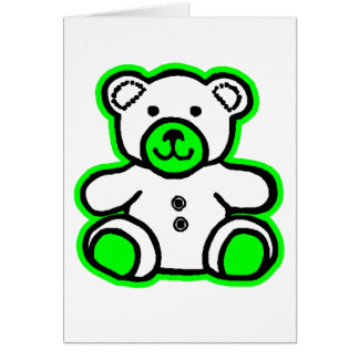 Teddy Bear Green White The MUSEUM Zazzle Gifts Cards