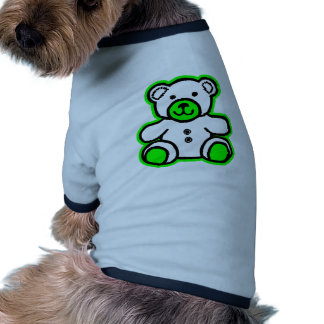 Teddy Bear Green White The MUSEUM Zazzle Gifts Dog Shirt
