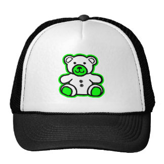 Teddy Bear Green White The MUSEUM Zazzle Gifts Mesh Hats