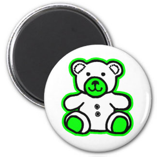 Teddy Bear Green White The MUSEUM Zazzle Gifts Fridge Magnets