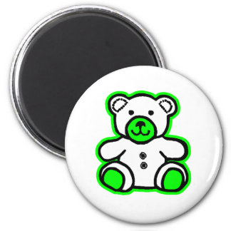 Teddy Bear Green White The MUSEUM Zazzle Gifts Refrigerator Magnets