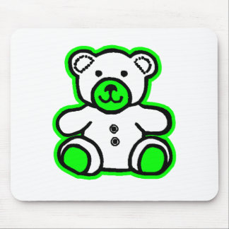 Teddy Bear Green White The MUSEUM Zazzle Gifts Mousepads