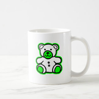 Teddy Bear Green White The MUSEUM Zazzle Gifts Coffee Mugs
