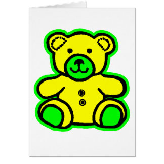 Teddy Bear Green Yellow The MUSEUM Zazzle Gifts Greeting Cards