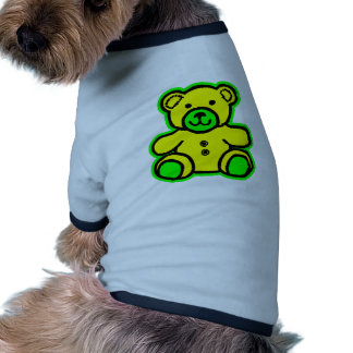 Teddy Bear Green Yellow The MUSEUM Zazzle Gifts Pet Tee