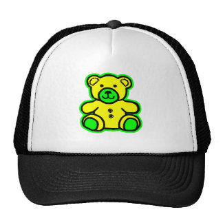 Teddy Bear Green Yellow The MUSEUM Zazzle Gifts Mesh Hat