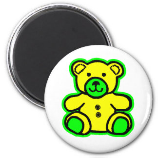 Teddy Bear Green Yellow The MUSEUM Zazzle Gifts Refrigerator Magnet