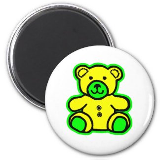 Teddy Bear Green Yellow The MUSEUM Zazzle Gifts Refrigerator Magnets