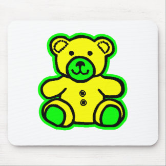 Teddy Bear Green Yellow The MUSEUM Zazzle Gifts Mousepad