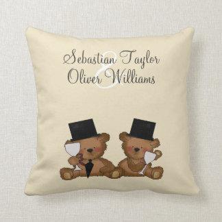 Teddy Bear Grooms Wedding Cushion