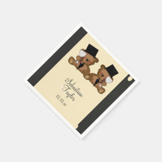 Teddy Bear Grooms Wedding Disposable Serviette