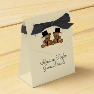 Teddy Bear Grooms Wedding Party Favour Boxes