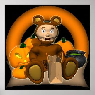 Teddy Bear Halloween Poster