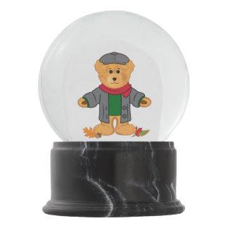 Teddy Bear Happy Fall Snow Globe