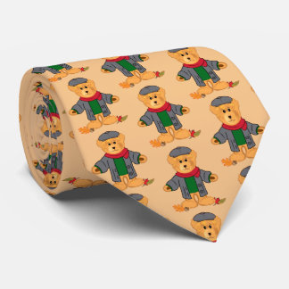 Teddy Bear Happy Fall Tie