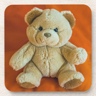 Teddy bear hard plastic coasters