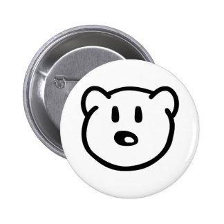 Teddy bear head 6 cm round badge