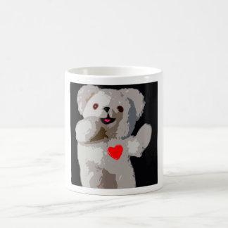 Teddy Bear Heart Coffee Mugs