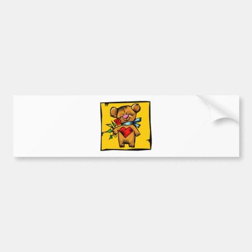 Teddy Bear Heart Valentine'S Day Bumper Stickers