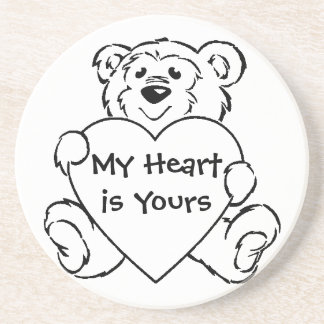 Teddy Bear Hearts Drink Coasters