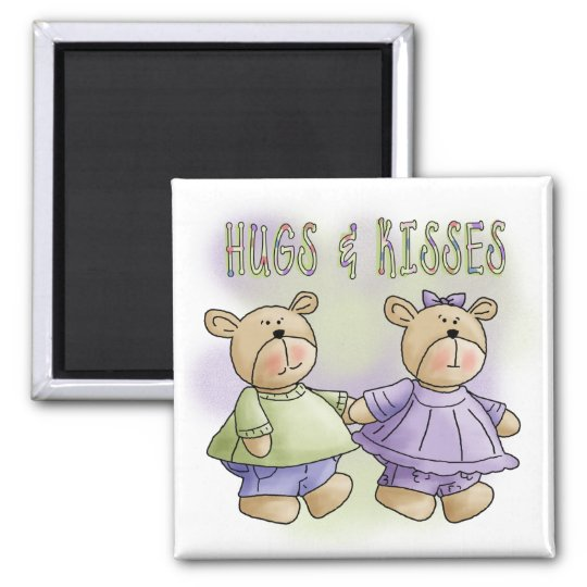 Teddy Bear Hugs and Kisses Tshirts and Gifts Magnet