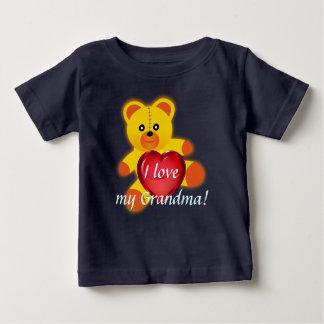 Teddy bear I love my grandma. Baby T-Shirt