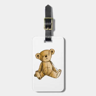 Teddy Bear image for Luggage-Tag-leather-strap Luggage Tag