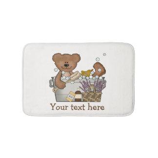 Teddy Bear In Bath Tub Bath Mat