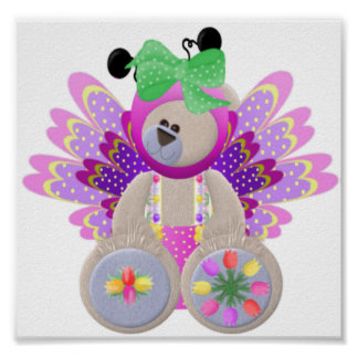 Teddy Bear in Costume Poster