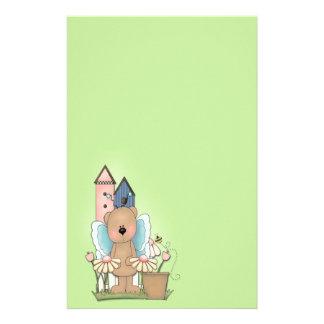Teddy Bear in Garden Stationery