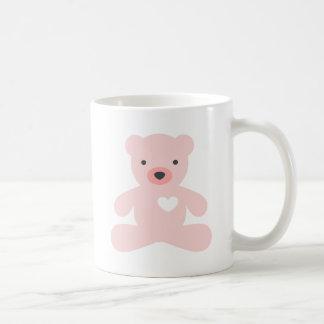 Teddy Bear in Pink Coffee Mugs