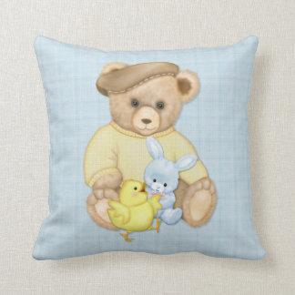 Teddy Bear in Tam  Easter Cushion