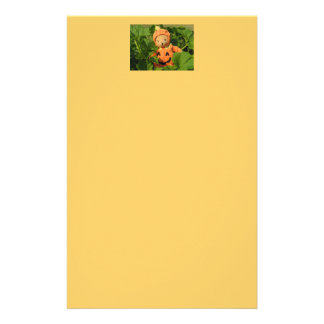 Teddy Bear in the Pumpkin Patch Stationery Design