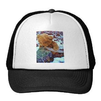 Teddy Bear in the Snow Mesh Hat