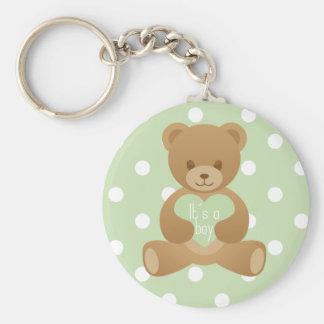 """Teddy bear """"It""""s a boy"""" keychain"""