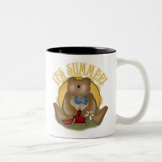 Teddy Bear It's Summer Two-Tone Mug