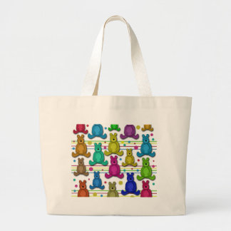 Teddy bear large tote bag