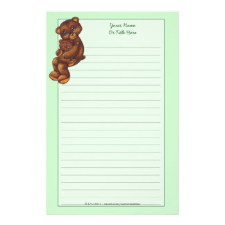 Teddy Bear Lined Stationery