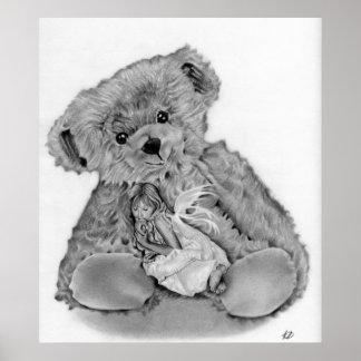 Teddy Bear Little Fairy Print