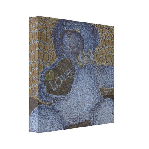 Teddy Bear Love Canvas Stretched Canvas Print