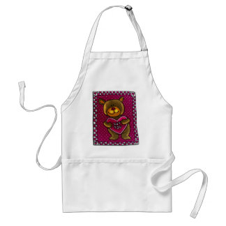 Teddy Bear Love T-shirts and Gifts Adult Apron