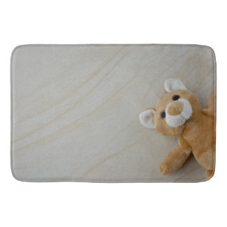 Teddy Bear Marble Throw Blaket Bath Mat