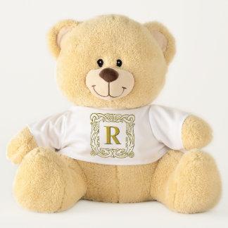 Teddy Bear - Monogram R - Celtic Dragon Frame