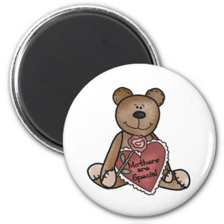 Teddy Bear Mothers Are Special 6 Cm Round Magnet