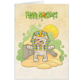 Teddy bear mummy card