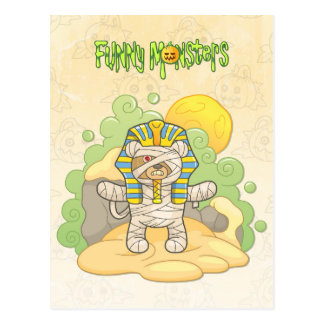 Teddy bear mummy postcard
